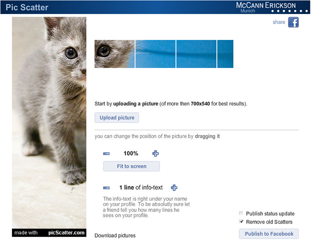 PicScatter Helps You Make Hacked Facebook Profile Photographs picscatter