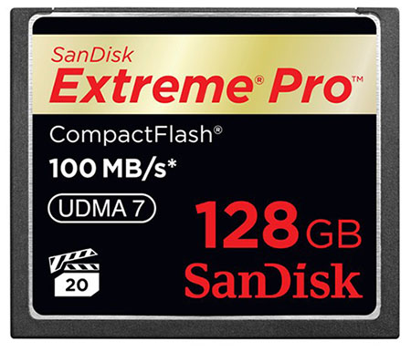 SanDisk Unveils Blazing Fast 128GB CompactFlash Card sandisk