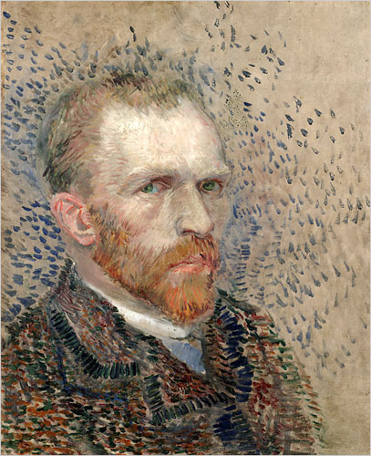 Fake Vincent van Gogh Self Portrait Painting Done with Camera and Paint vangogh
