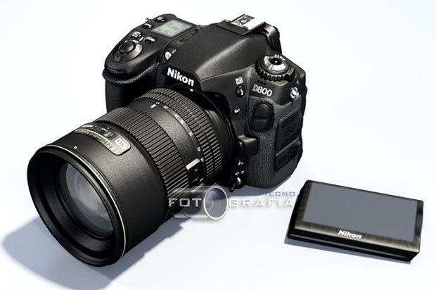 Nikon D800 Concept Features Detachable LCD Screen and Swiveling Grip d800concept