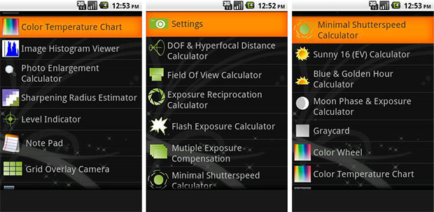 Photo Tools App for Android Phones phototools
