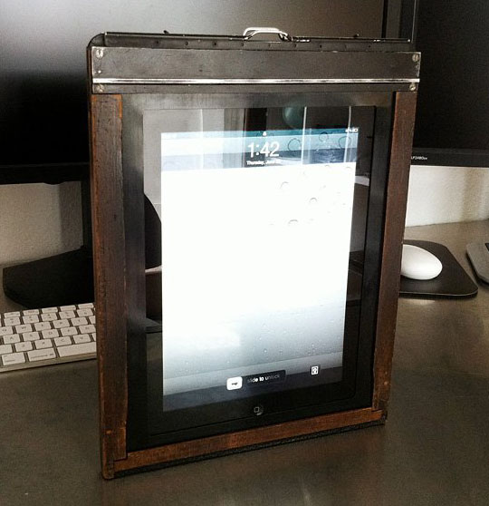 Vintage 8x10 Film Holder Converted into an iPad Case ipadcase