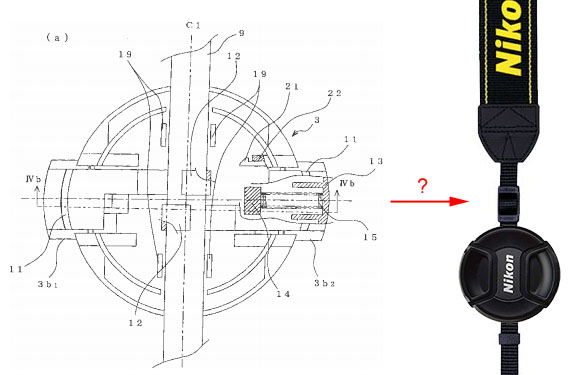 Nikon Patents a Simple Way to Attach Your Lens Cap to Your Strap nikoncappatent