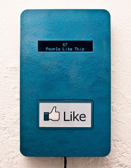 What if Photo Exhibitions Had Physical Facebook Like Buttons? fbbutton
