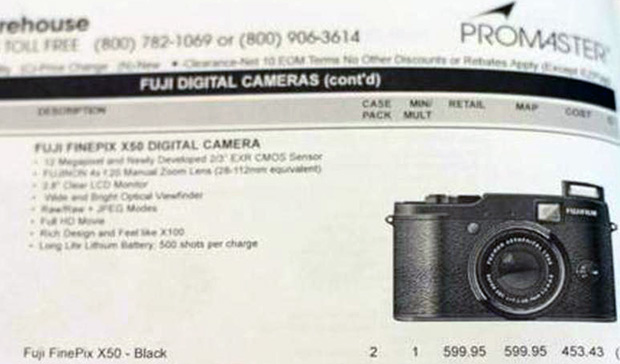 Photo of Upcoming Fujifilm FinePix X50 Spotted in a Catalog finepixx50