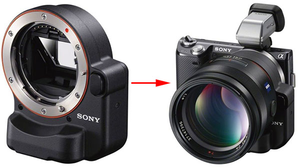 Sony LA EA2 Helps Turn Your NEX into an Unwieldy Camera laea2adapter