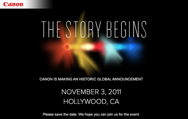 Canon Plans to Announce Something Historic on November 3rd canon