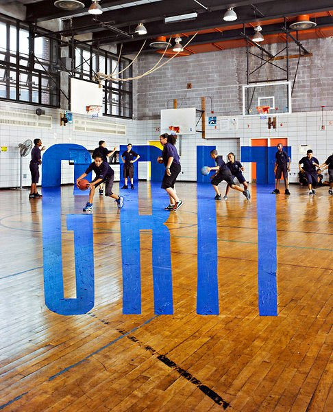 Giant Words Added to Photos Without Photoshop grit mini
