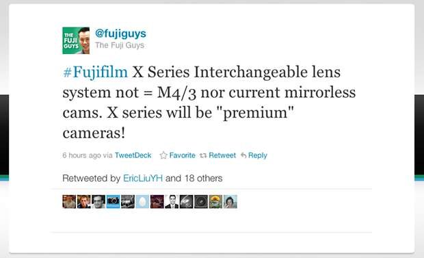 Fujifilm Mirrorless Camera System Will Pack Premium Sensor, Not M4/3 premium mini