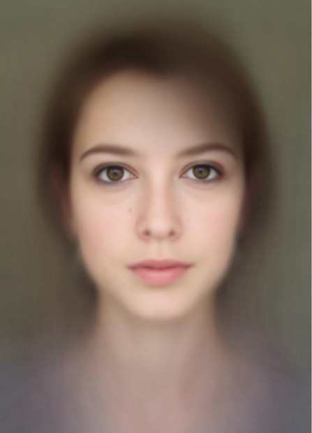 Composite Self Portrait Made Using 500 Photographs of One Face average mini