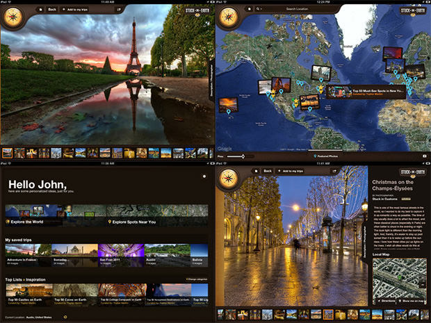 Stuck On Earth: A Gorgeous iPad App for Browsing Travel Photos stuckearth mini