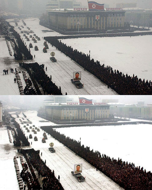 Shocking: North Korea Doctored Photo of Kim Jong ils Funeral doctored1 mini
