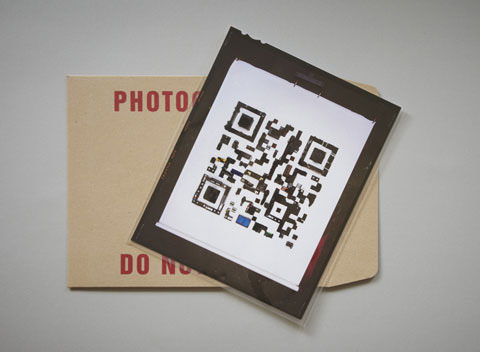Photographer Promotes New Site with QR Code Made from Ordinary Objects qr4 mini