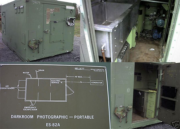 US Army Darkroom Aluminum Shelter armydarkroom mini