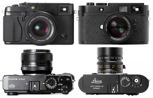 Fujifilm X Pro1 Next to the Leica M9 P compare mini