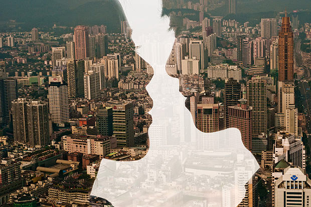 City Silhouettes: Skylines Seen Through Portraits of City Dwellers silh1 mini