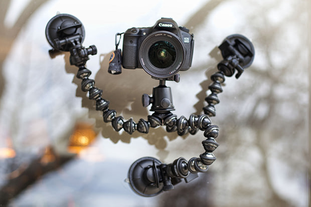 CineSquid: A Suction Cup Tripod System Fit for Spiderman cinesquid mini