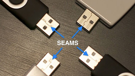 Plug In USB Cables Correctly the First Time by Observing the Seam seams mini