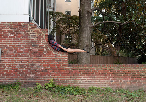 Planking 2.0: Self Portraits Show Woman Conforming to Her Environment state1 mini