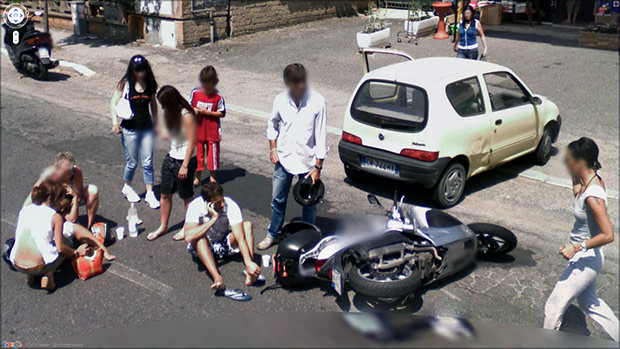 Strange Scenes Spotted by Google Street View Cameras street1 mini