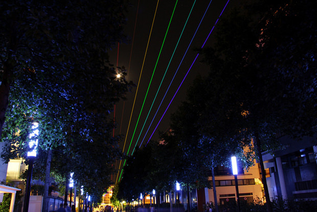Photos of High Powered Laser Rainbows Projected Across the Night Sky 6132775729 2a545033fd z copy mini