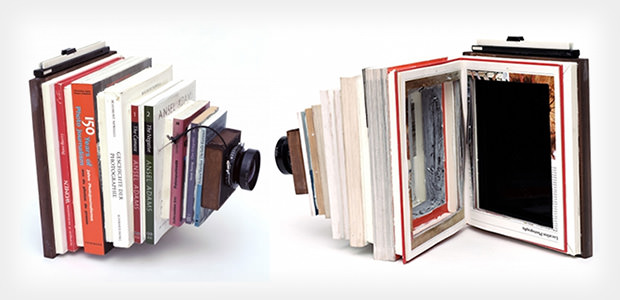 DIY Large Format Camera Created From Photography Books bookcam mini
