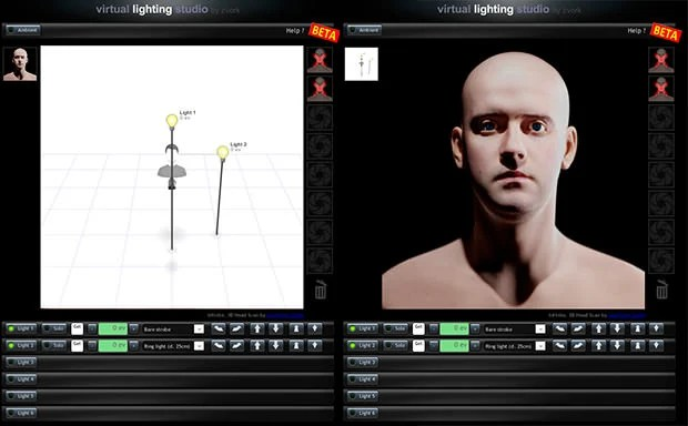 Virtual Lighting Studio: An Online Studio Lighting Simulator vls mini