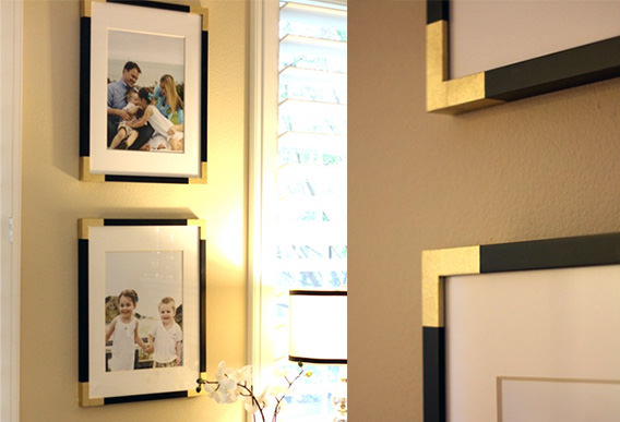 Upgrade the Look of Black Picture Frames with Spray Paint and Painters Tape edges mini