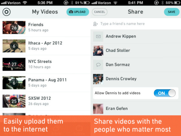 Cloudee: An App for Sharing Those Long Lost Videos on Your iPhone cloudee mini