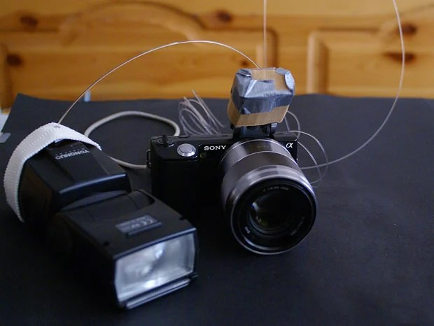 Trigger an External Flash with Some Fiber Optic Cable fiber mini