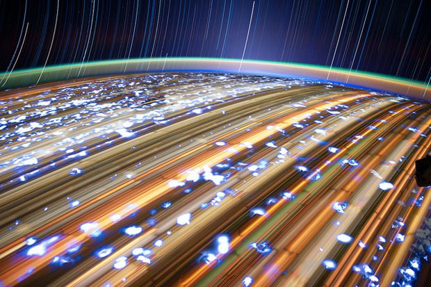 Incredible Long Exposure Photographs Shot from Orbit iss1 mini