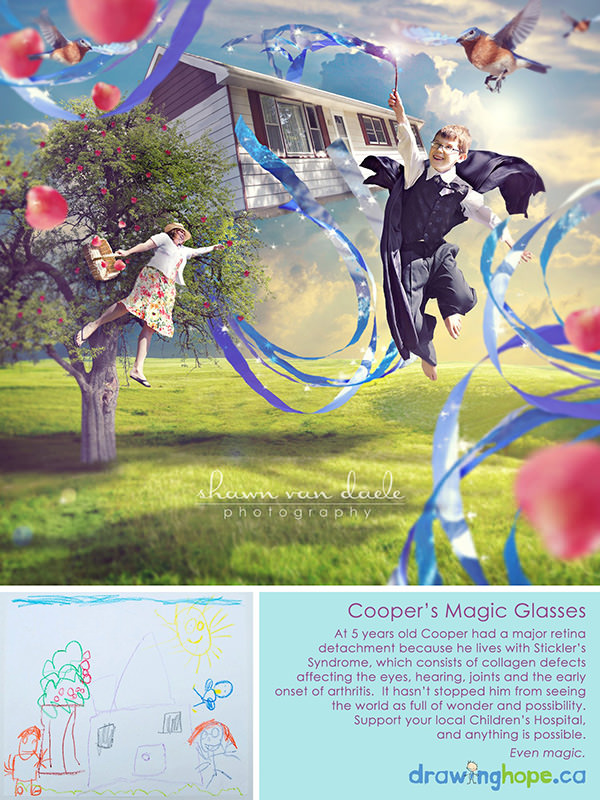 Fantasy Photos Based by the Drawings of Sick Children magic mini