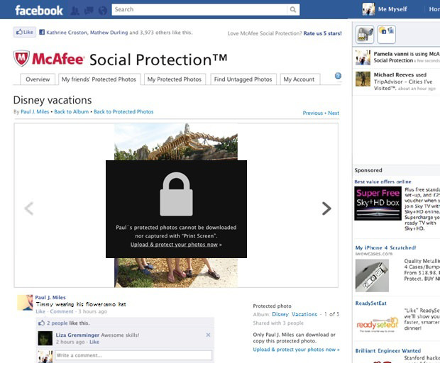 McAfee Social Protection Blurs and Locks Down Your Photos on Facebook protectedphoto1 mini