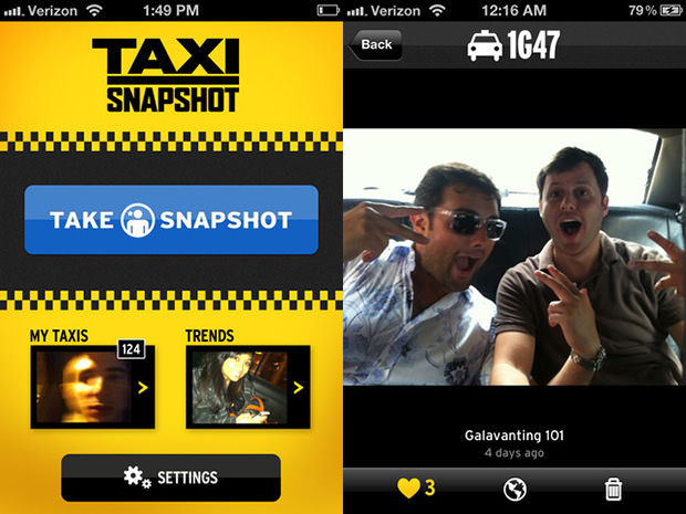 Taxi Snapshot is an App That Turns NYC Taxicabs into Social Photo Booths taxisnapshot1 mini