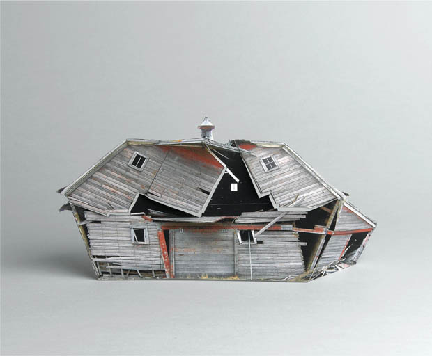 Photographs of Models of Photographs of Abandoned Buildings  house1
