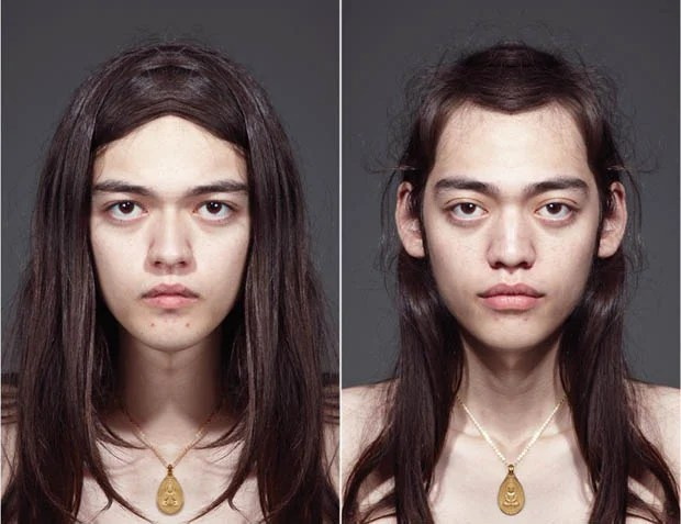 A Portrait Project Showing Subjects with Two Perfectly Symmetrical Faces face1