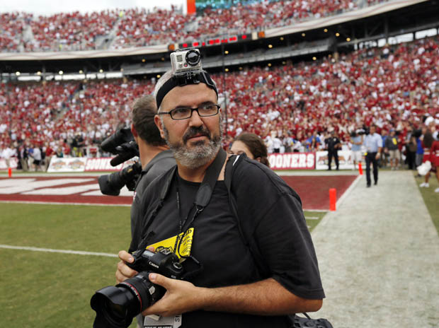 What Its Like to Shoot the Conclusion of a Major College Football Game headcam