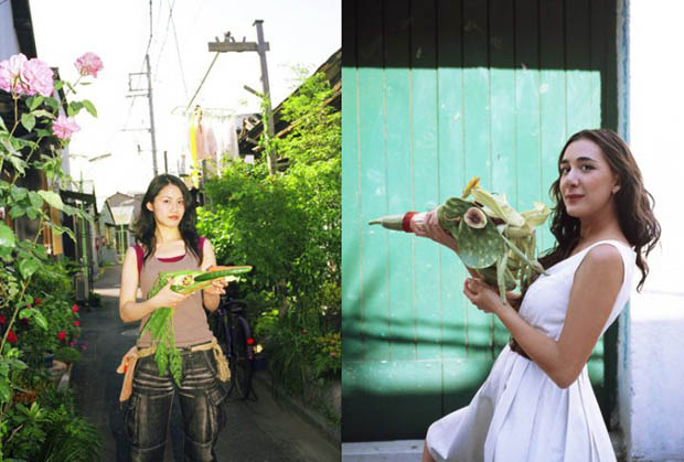 Photos of Women Holding Vegetables as Weapons veggun7