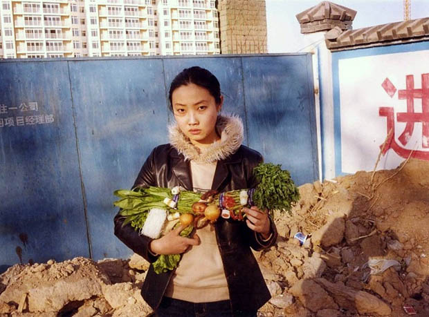 Photos of Women Holding Vegetables as Weapons veggun8