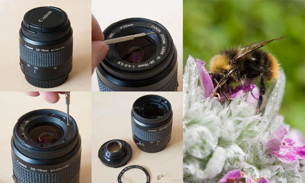 Turn an Old Kit Lens Into a Macro Lens by Removing the Front Element intro