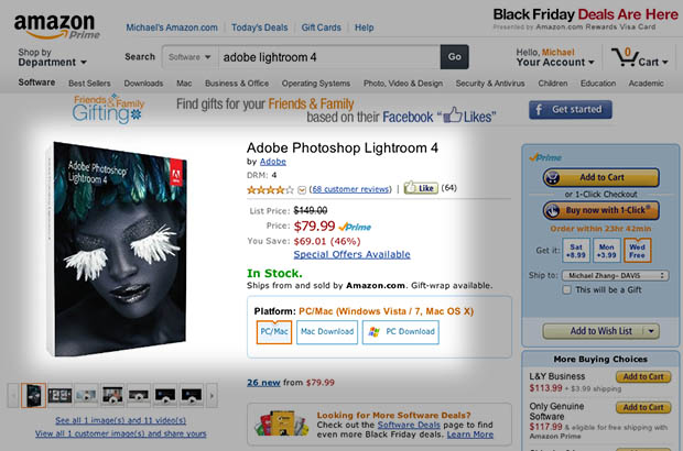 Black Friday Deal: Snag Adobe Lightroom 4 for Just $79 lightroom4