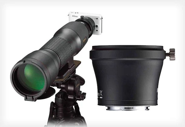 Nikon Announces a 1 Series Digiscoping Adapter for Using Telescopes as Lenses nikondigi1