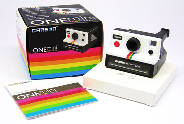 Carbon One Mini is a Polaroid One Step Look Alike Digital Camera carbononemini1