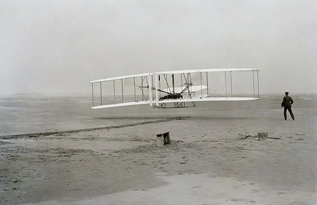 The Story Behind the Iconic Photograph of the First Flight of an Airplane firstflight