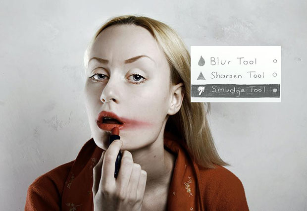 Photos Imagining How Photoshop Tools Would Be Used as Beauty Products photoshopreallife.jpg 1