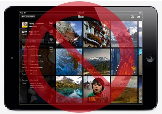 Apple Removes 500px App from the App Store Over the Issue of Artistic Nudity 500pxapppulled