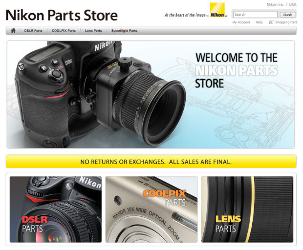 Nikon Now Sells Select Repair Parts Direct to Consumers Online nikonpartsstore mini