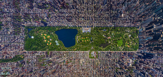 This Aerial Panorama of NYC Looks Like a Screenshot of Sim City nycaerialpano