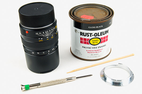 Add a Lens Code to Your Leica Lens with Black and White Paint leicaconvert1