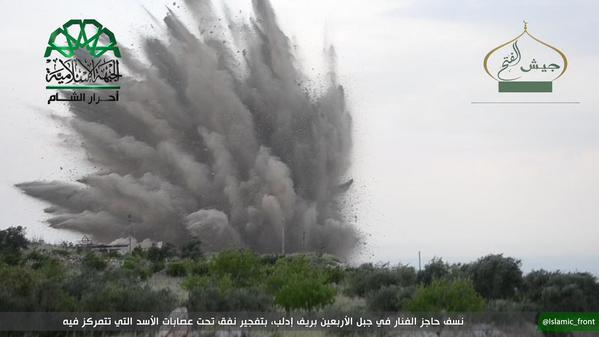 Al-Fanar Checkpoint Hit with Tunnel Bomb in Idlib Province